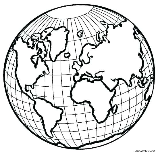 550x535 Earth Coloring Page Coloring Page Of The Earth Earth Coloring