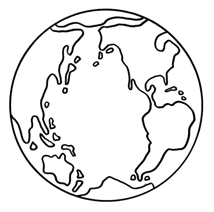 728x722 Planet Earth Printable Coloring Pages Coloring The Earth Earth