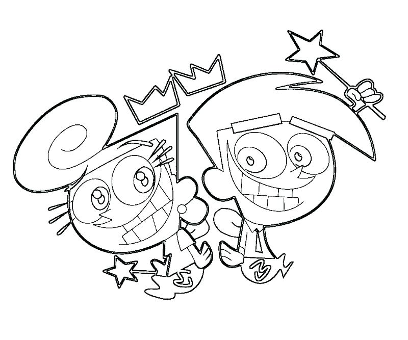 800x667 Fairly Odd Parents Free Coloring Pages Innovative Cool Ideas
