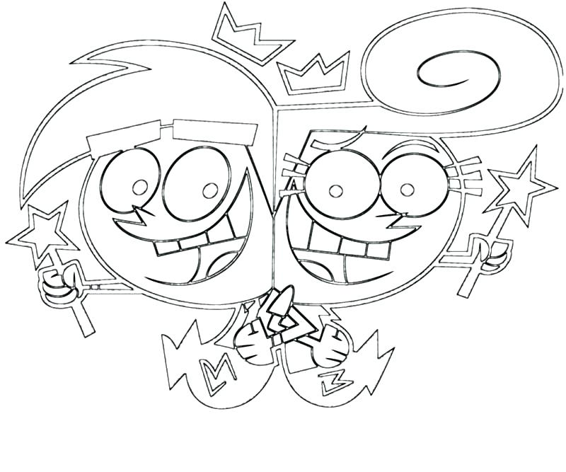 800x667 Rly Odd Parents Coloring Pages The Coloring Pages Odd Parents Rly