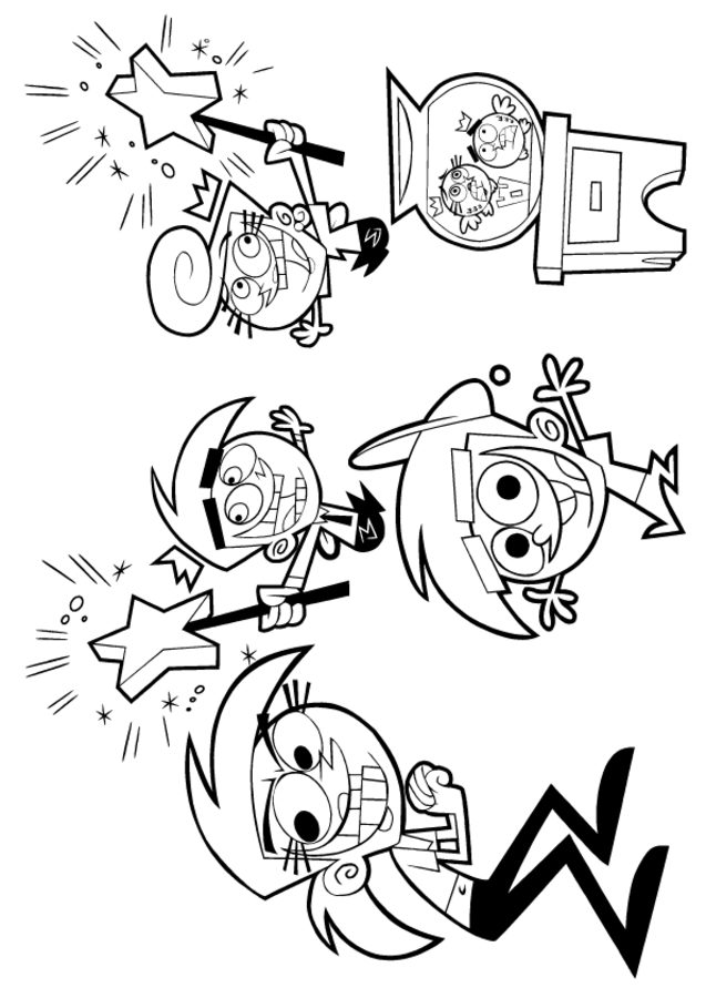 637x900 Coloring Pages Fairly Oddparents, Printable For Kids Adults, Free