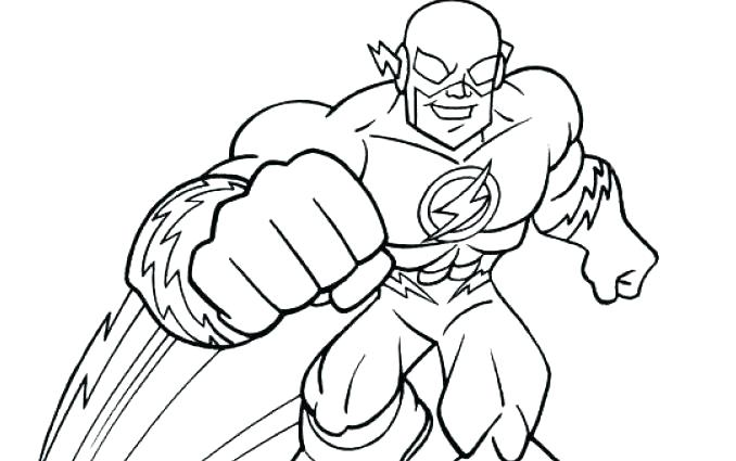 The Flash Coloring Pages Free Printable