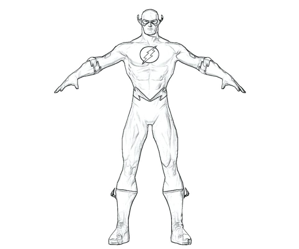 960x800 Flash Coloring Pages Flash Superhero Printable Coloring Pages O