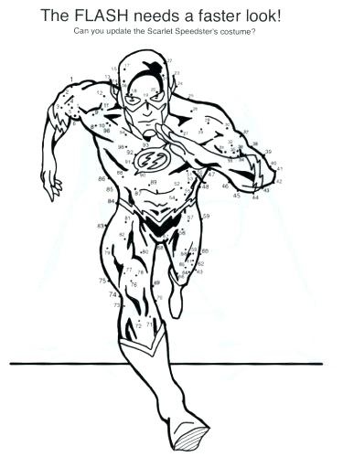 375x500 Kid Flash Coloring Pages Printable Get This Free Flash Coloring