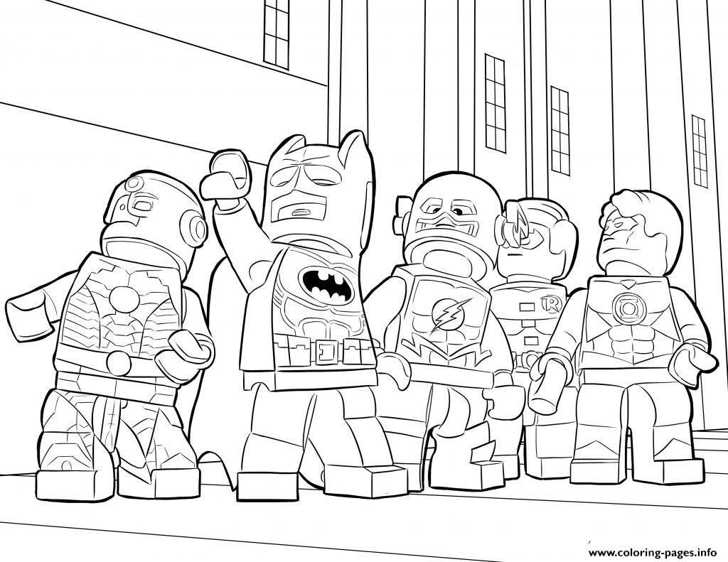 1024x791 Lego Batman Ironman Flash Coloring Pages Free Printable