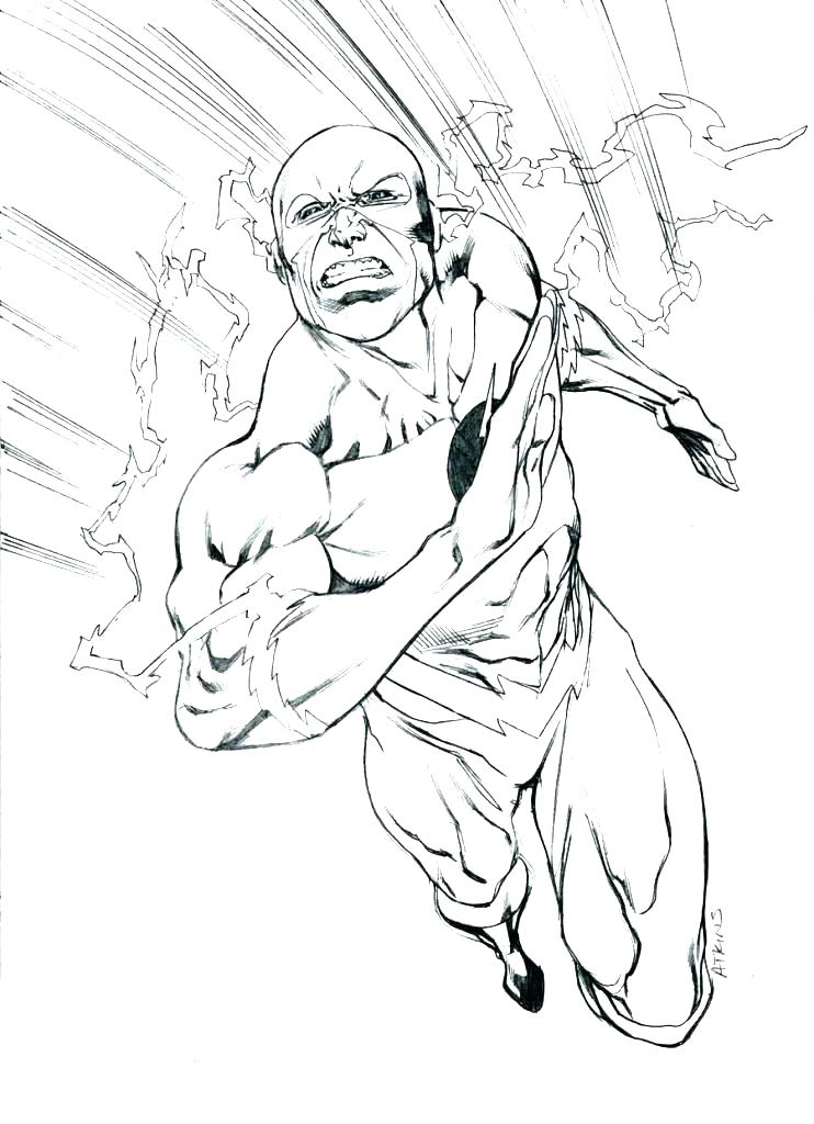 742x1024 The Flash Coloring Page Super Hero Coloring Sheet Flash Superhero