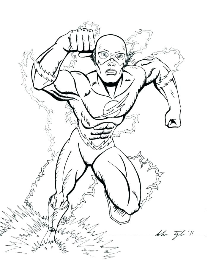 700x875 The Flash Coloring Pages The Flash Coloring Pages Superheroes