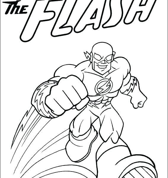 567x600 The Flash Running Coloring Flash Coloring Pages Free The Flash