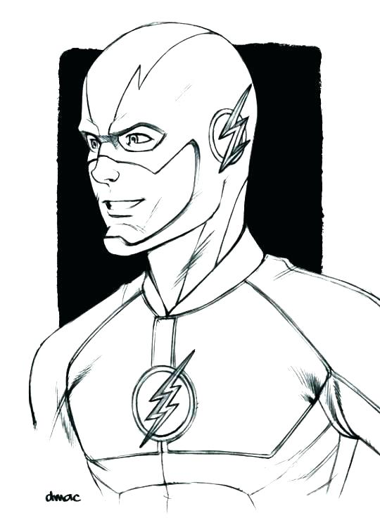 The Flash Coloring Pages Printable