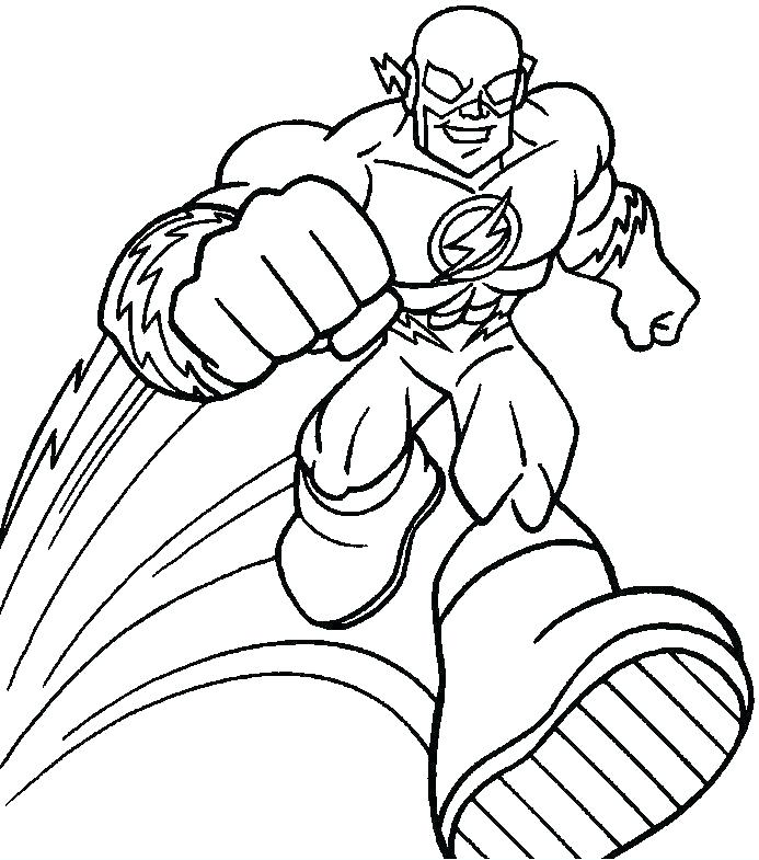 The Flash Coloring Pages Printable at GetDrawings   Free ...