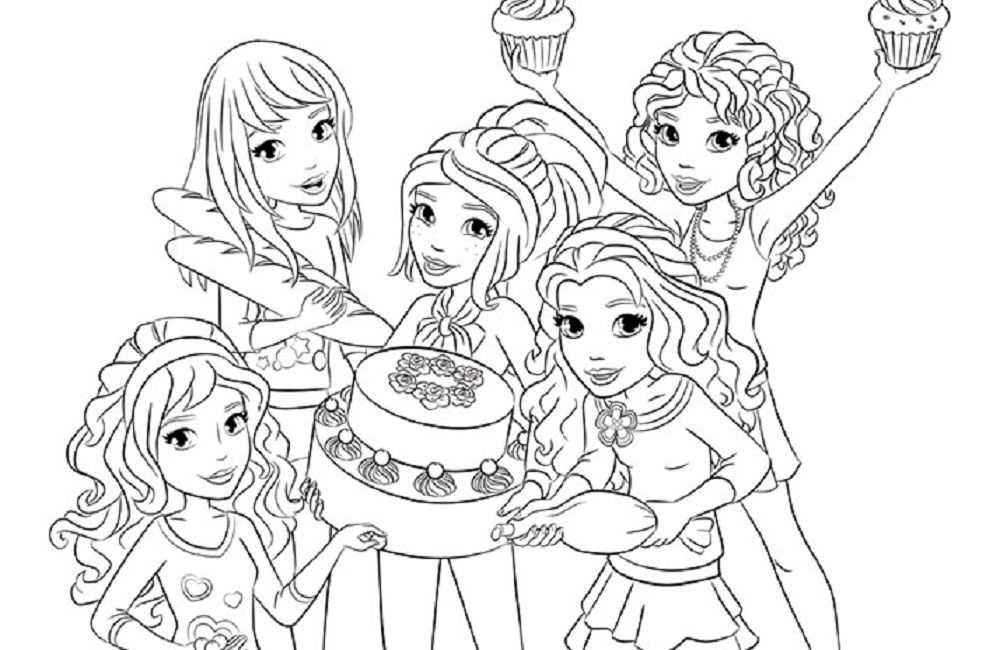 986x650 Coloring Page Coloring Sheets Lego, Lego Friends