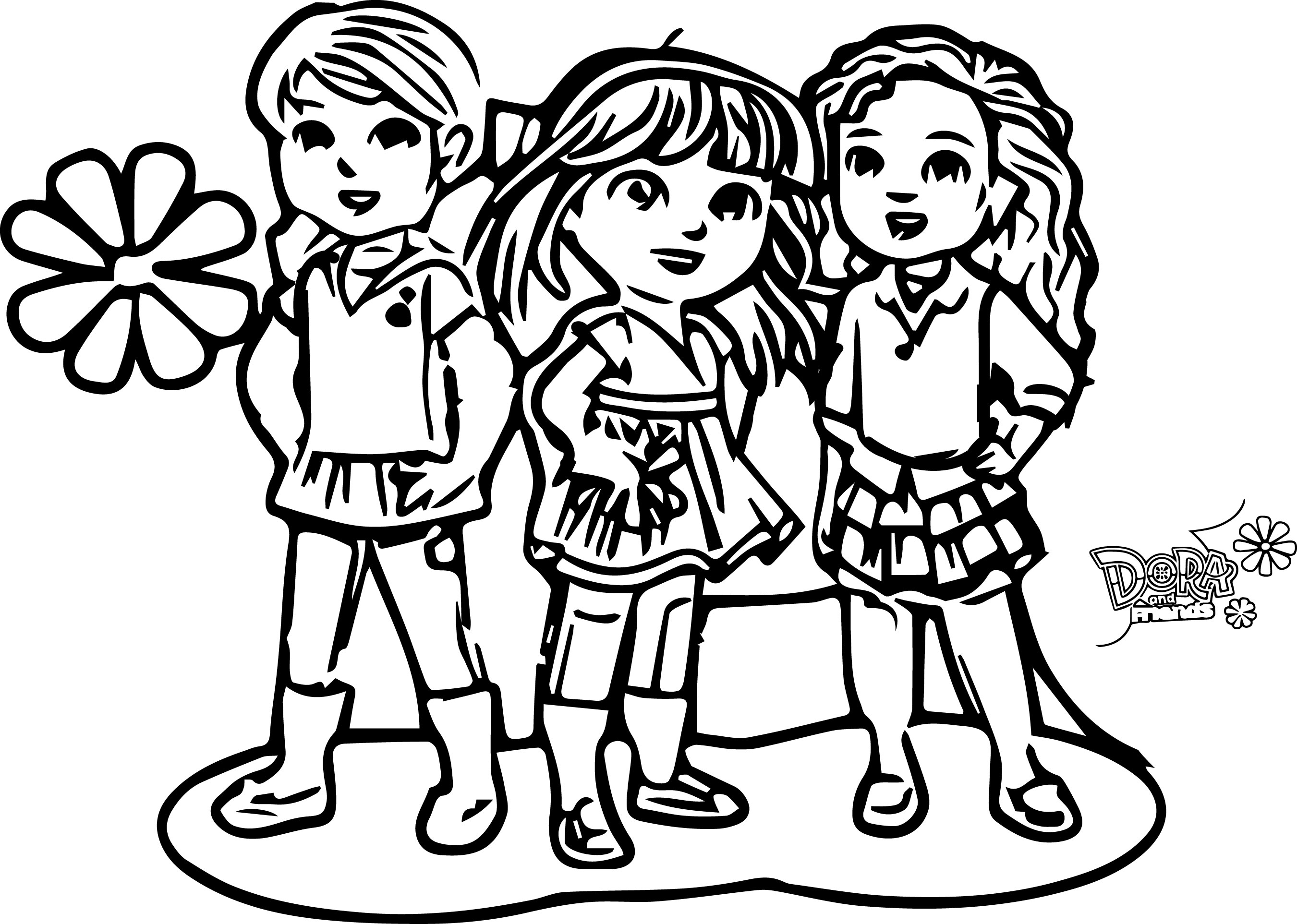 2701x1925 Dora And Friends Coloring Pages Inside Glum Me Bloodbrothers