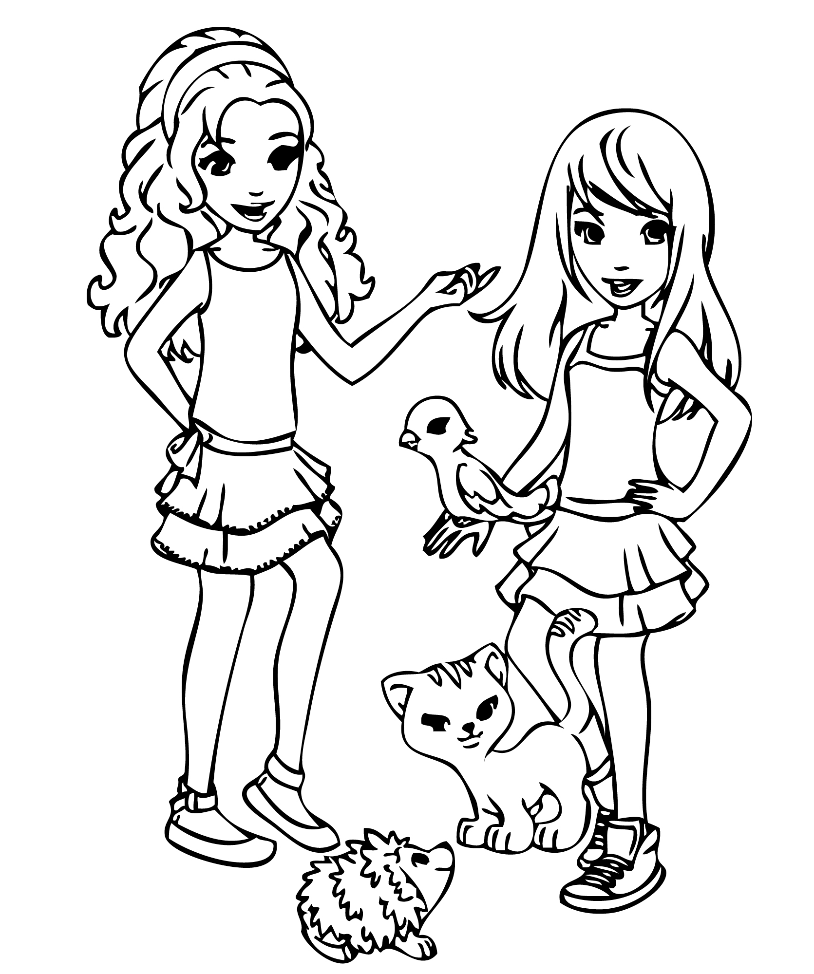 1671x2000 Friends Colouring Pages
