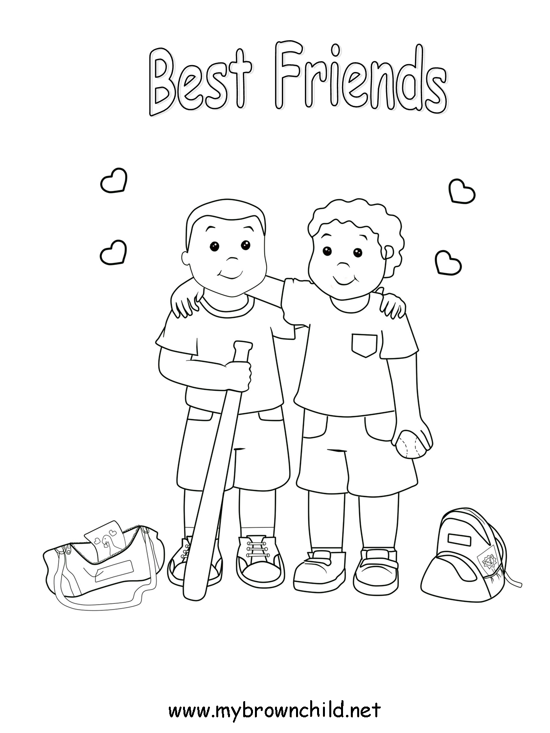 1124x1497 Friendship Coloring Pages Free