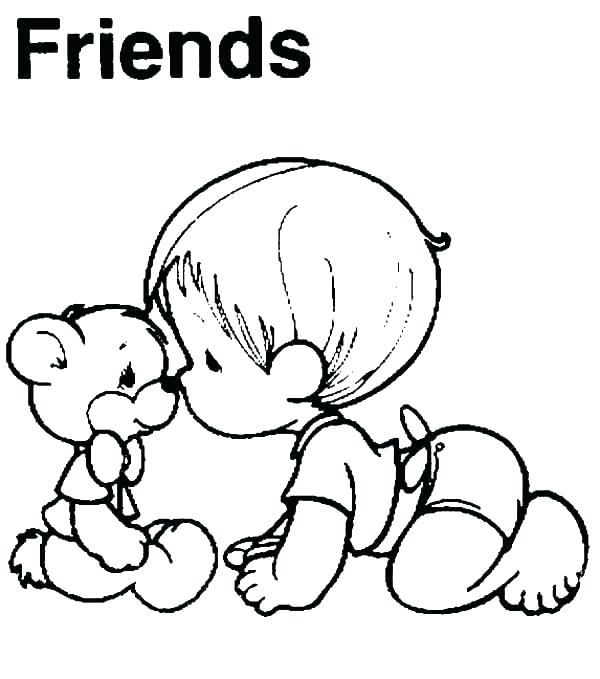 600x679 Friend Coloring Page