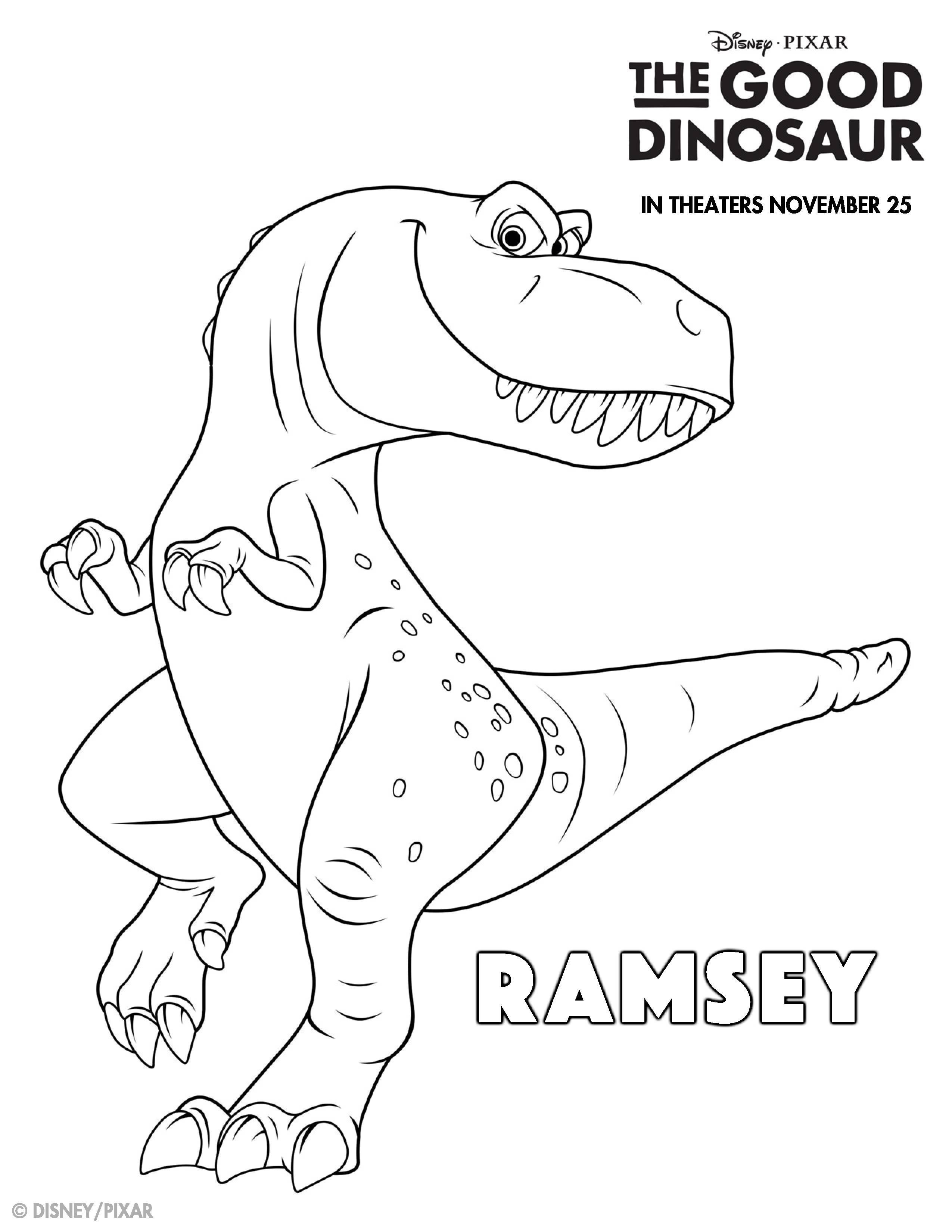 2550x3300 The Good Dinosaur Coloring Pages And Activity Sheets