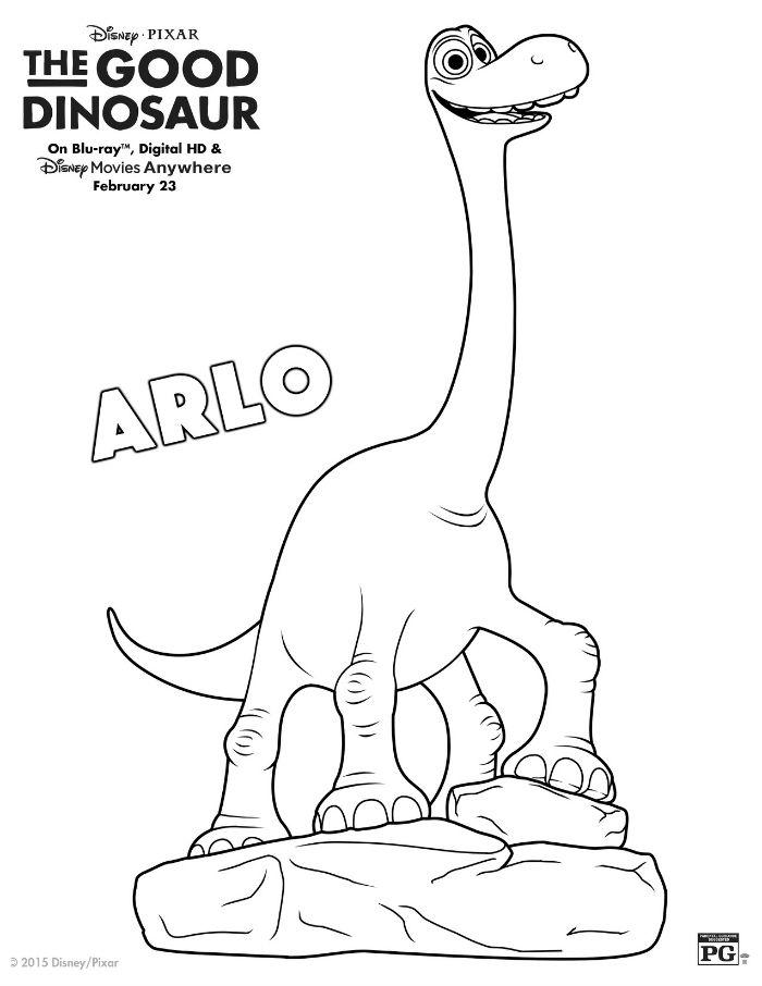 700x906 Disney The Good Dinosaur Arlo Coloring Page Disney