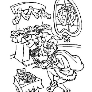 image about Grinch Coloring Pages Printable known as The Grinch Xmas Coloring Webpages at