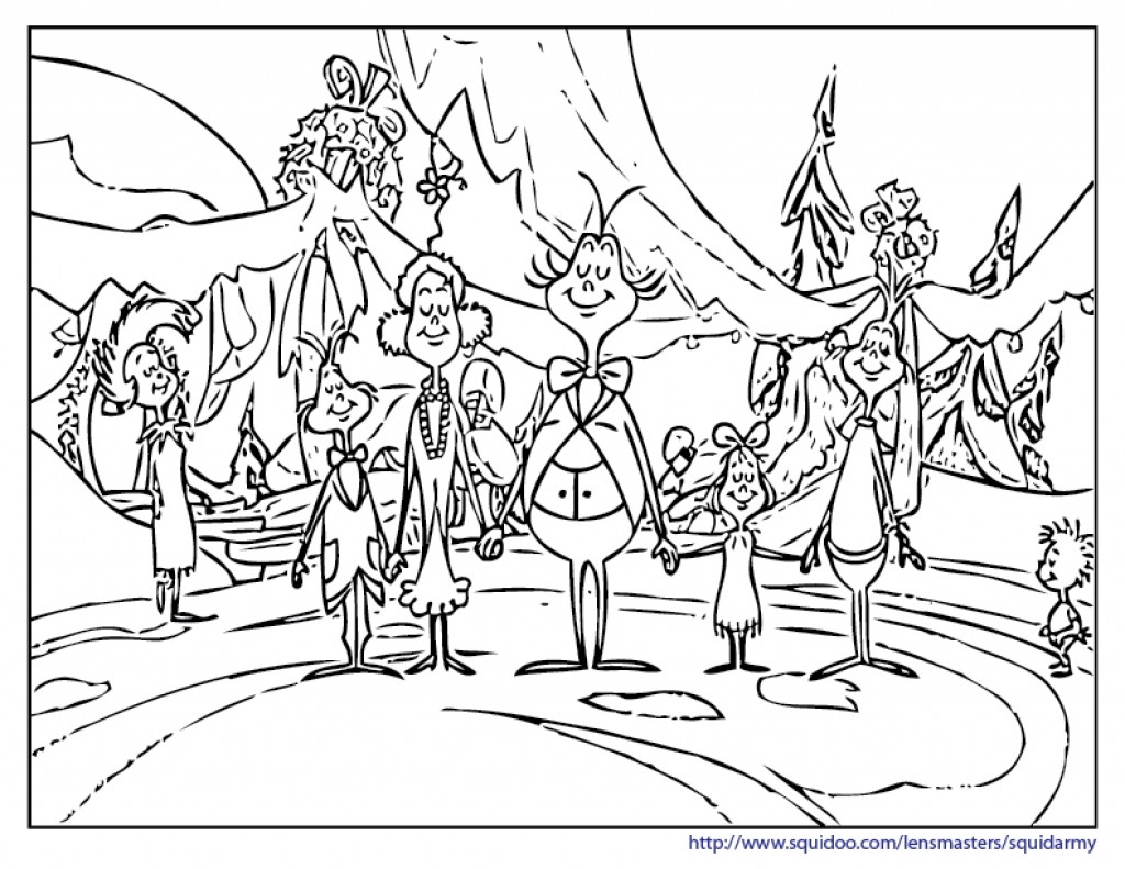 1024x791 How The Grinch Stole Christmas Coloring Pages Page Cool Of Acpra