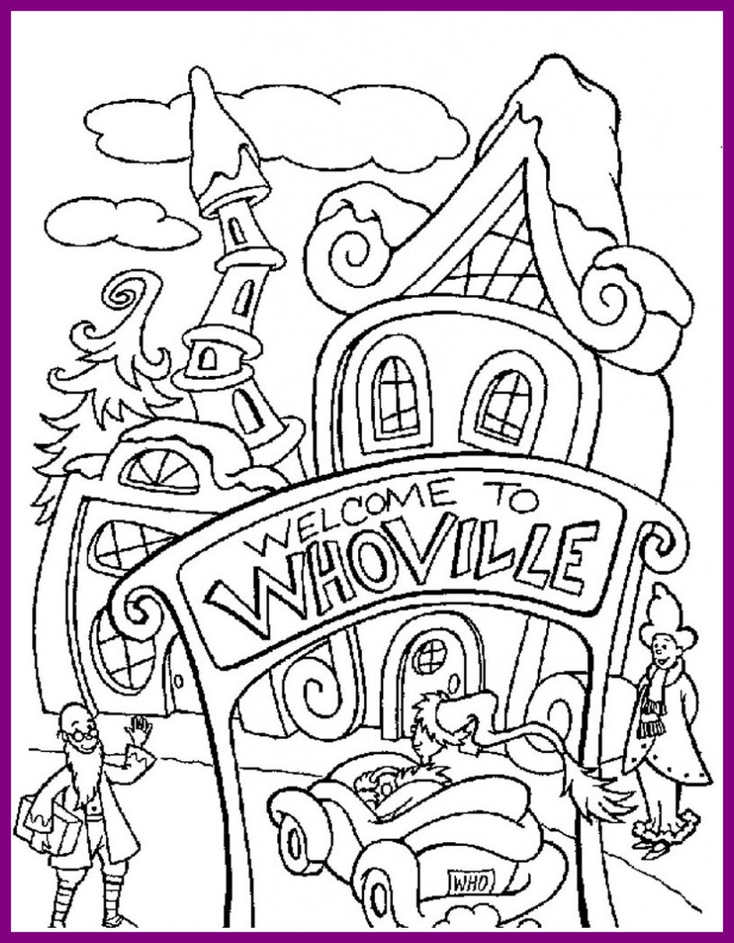 816x1048 Shocking How The Grinch Stole Christmas Coloring Pages To Pict