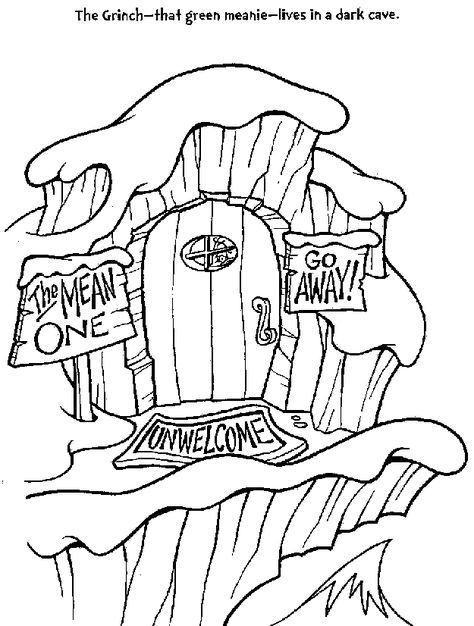 474x626 How The Grinch Stole Christmas Coloring Pages The Grinch's House