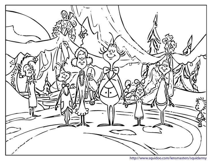 736x568 Free How The Grinch Stole Christmas Coloring Pages