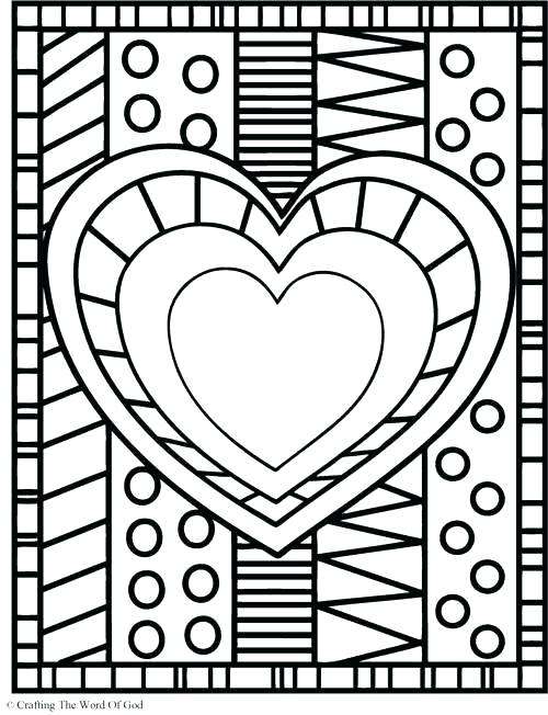 500x652 Coloring Pages Heart Heart Color Pages And Heart Coloring Page
