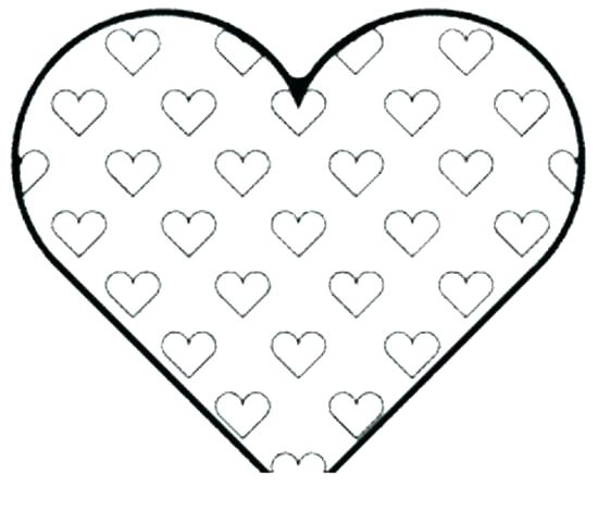550x481 Coloring Pages Of A Heart Simple Heart Coloring Pages Heart