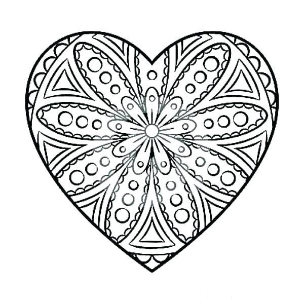 600x600 Hearts Coloring Pages Pdf Heart Coloring Book Plus Coloring Page
