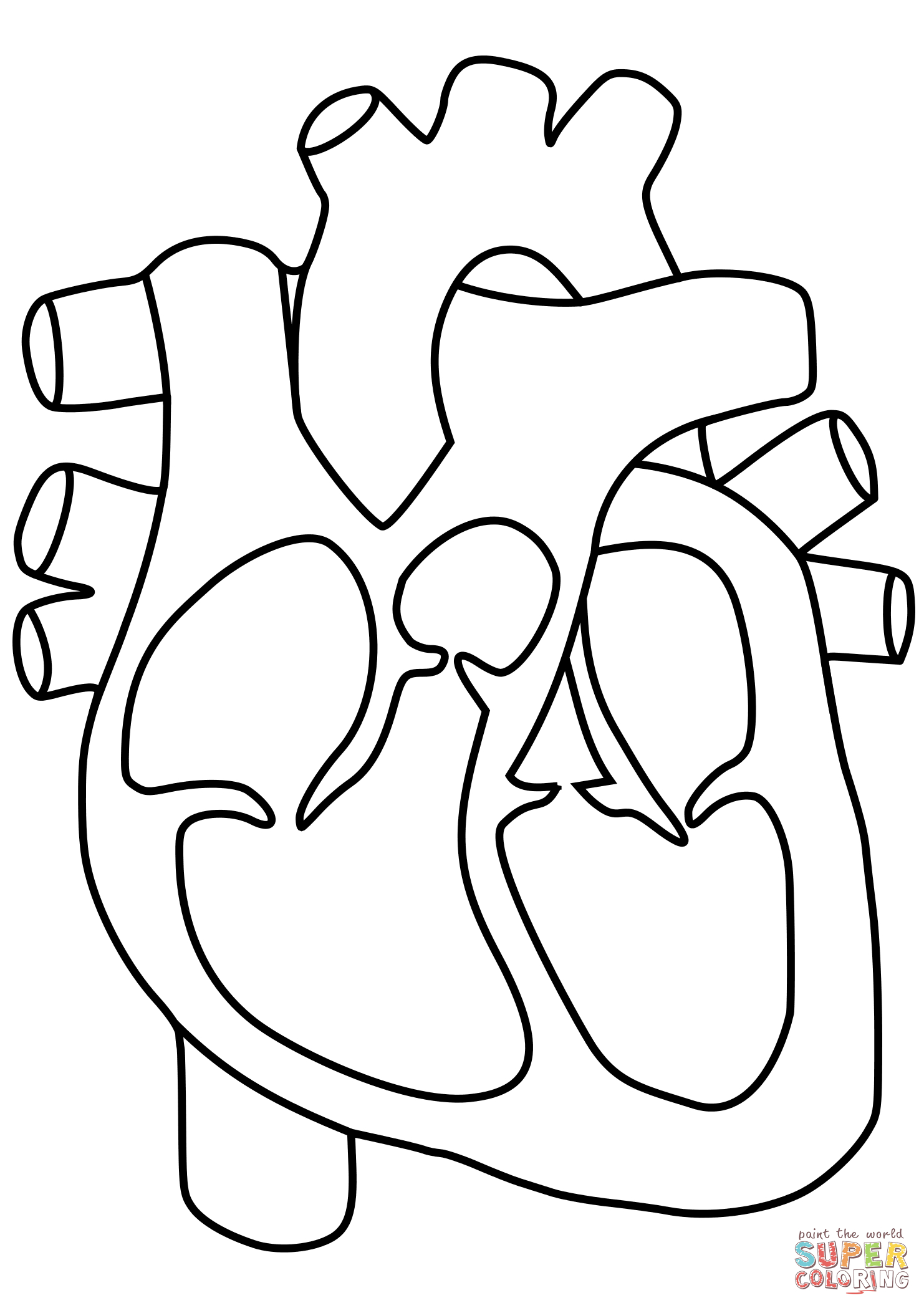 1482x2098 Human Heart Coloring Pages Human Heart Coloring Page Human Heart
