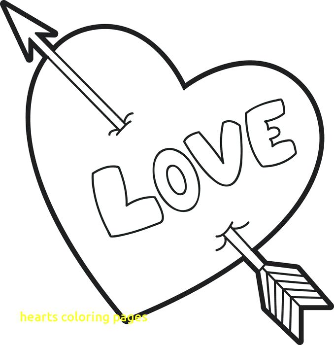 678x700 Love Heart Coloring Pages Hearts Coloring Pages With Heart