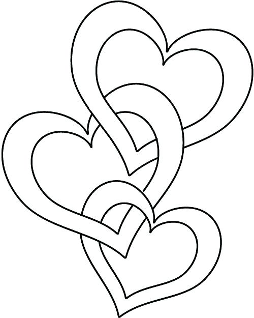500x625 Roses And Hearts Coloring Pages Heart Coloring Pages Printable