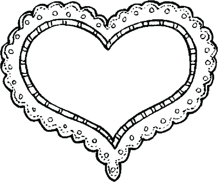 709x594 Coloring Page Heart Coloring Page Of A Heart Astonishing Heart