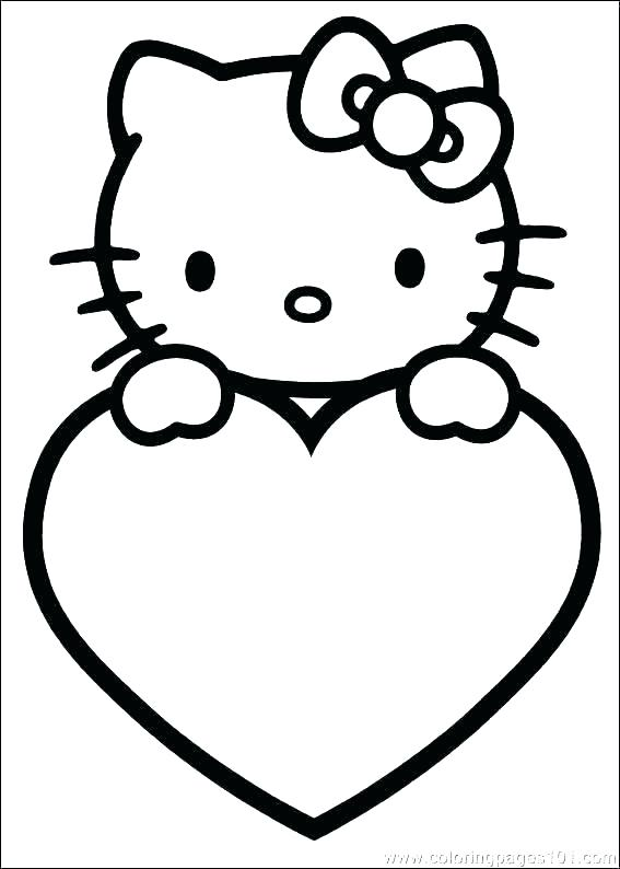 567x794 Coloring Page Of A Heart Heart Coloring Pages Free Heart Coloring