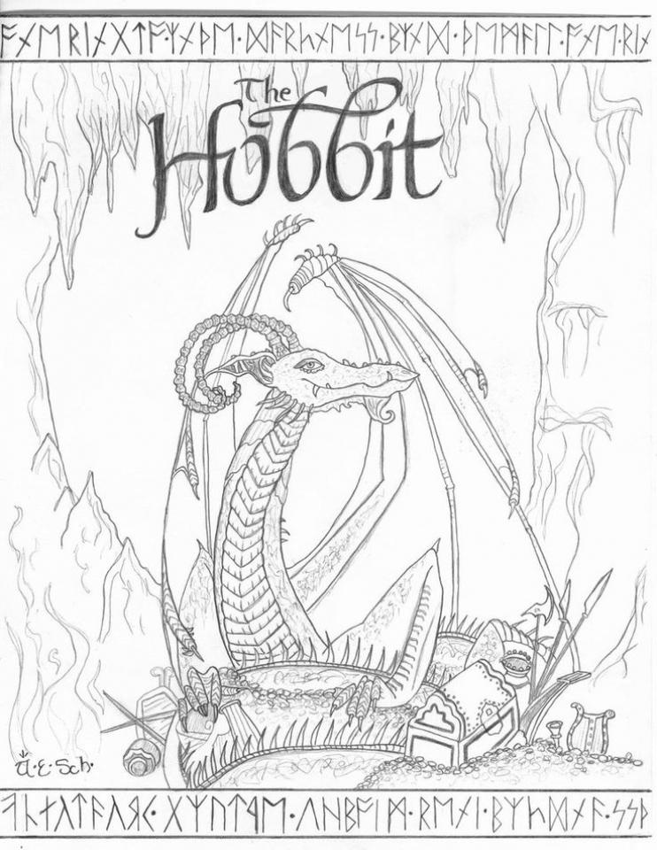 742x960 Hobbit Coloring Pages