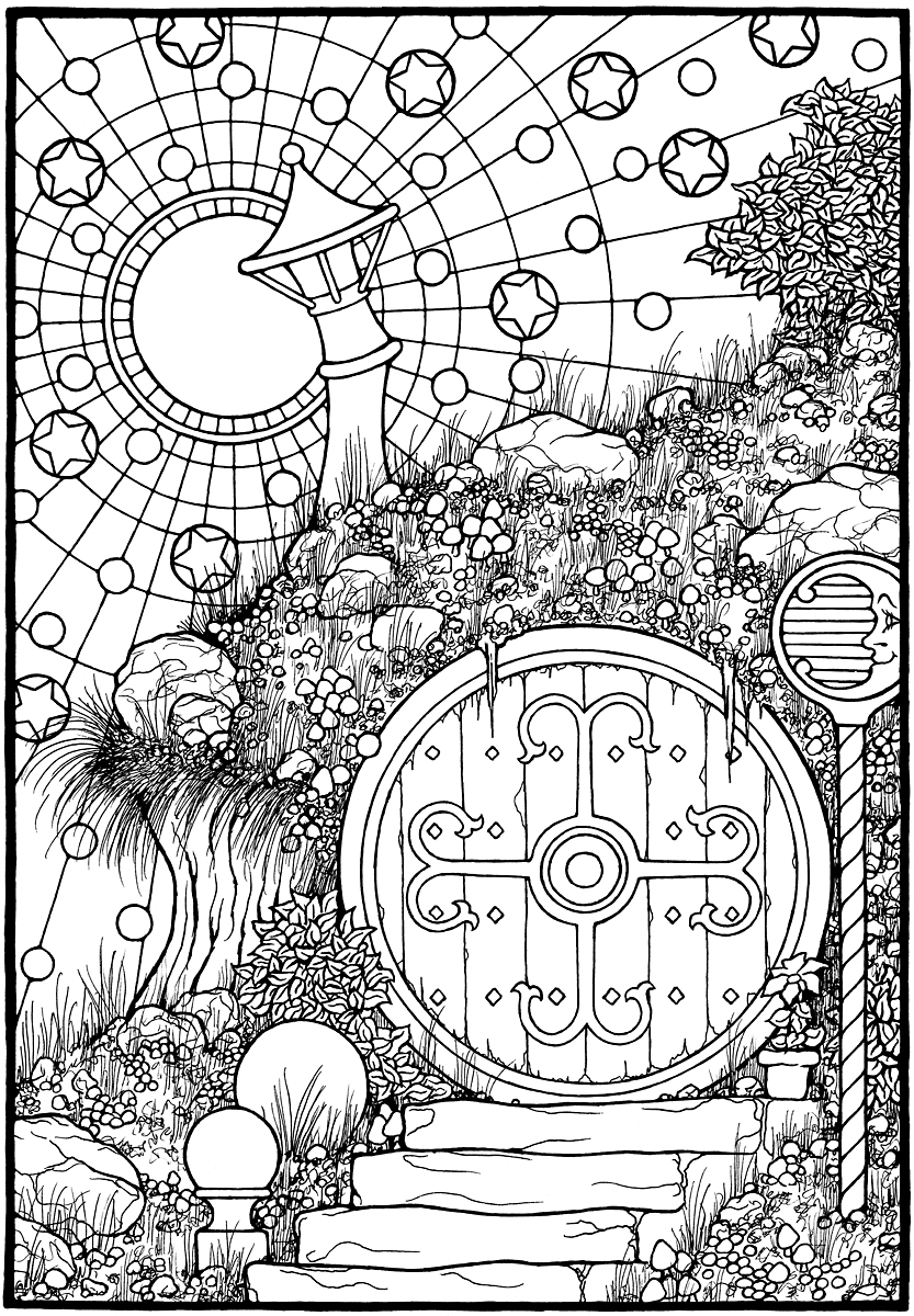 833x1200 Hobbit Coloring Pages With Wallpapers Free Download New