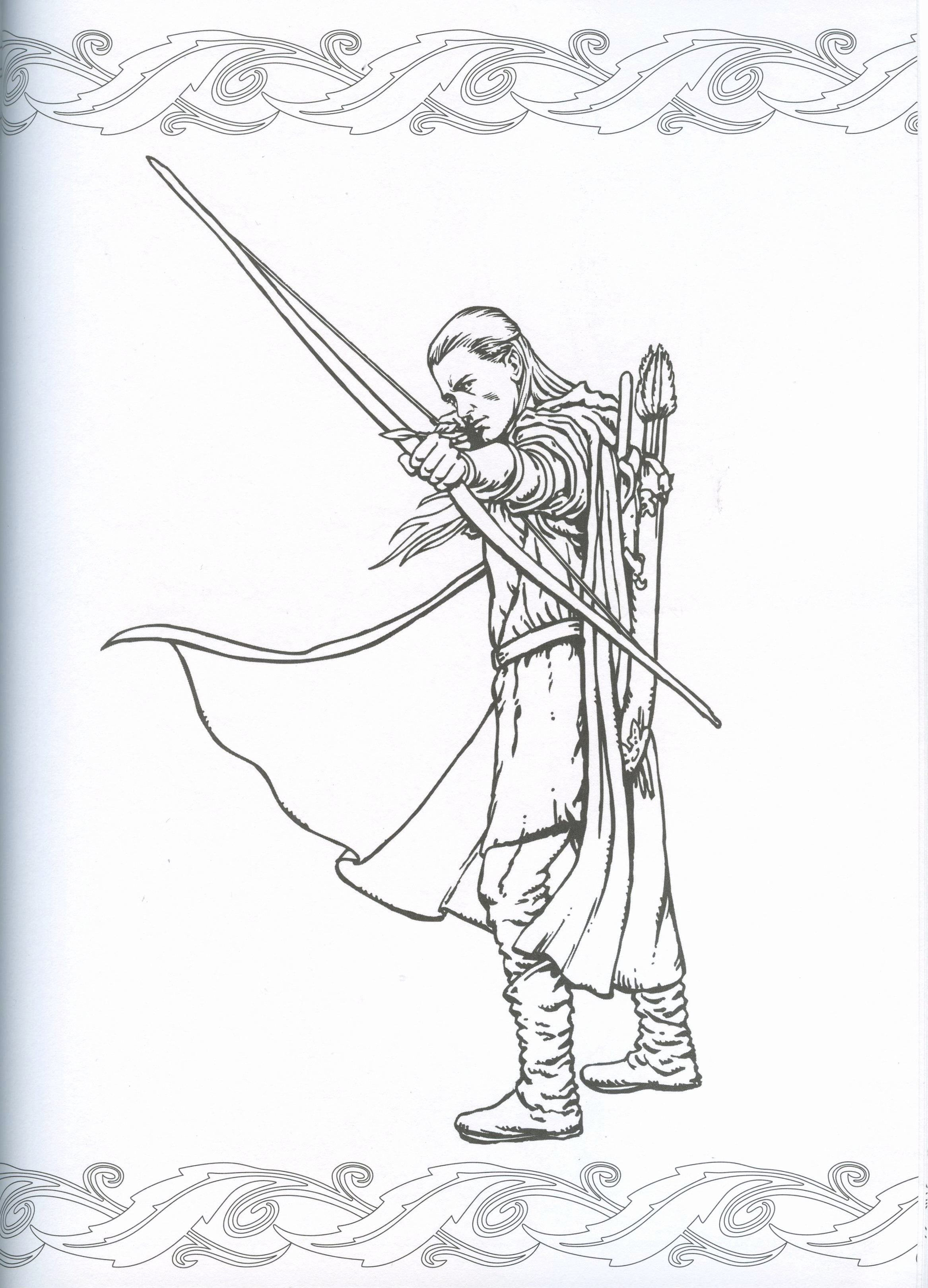 2334x3241 The Hobbit Coloring Pages Best Of Legolas Coloring Page Middle