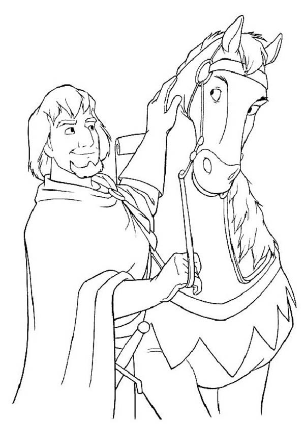 600x871 Phoebus And His Horse In The Hunchback Of Notre Dame Coloring Page