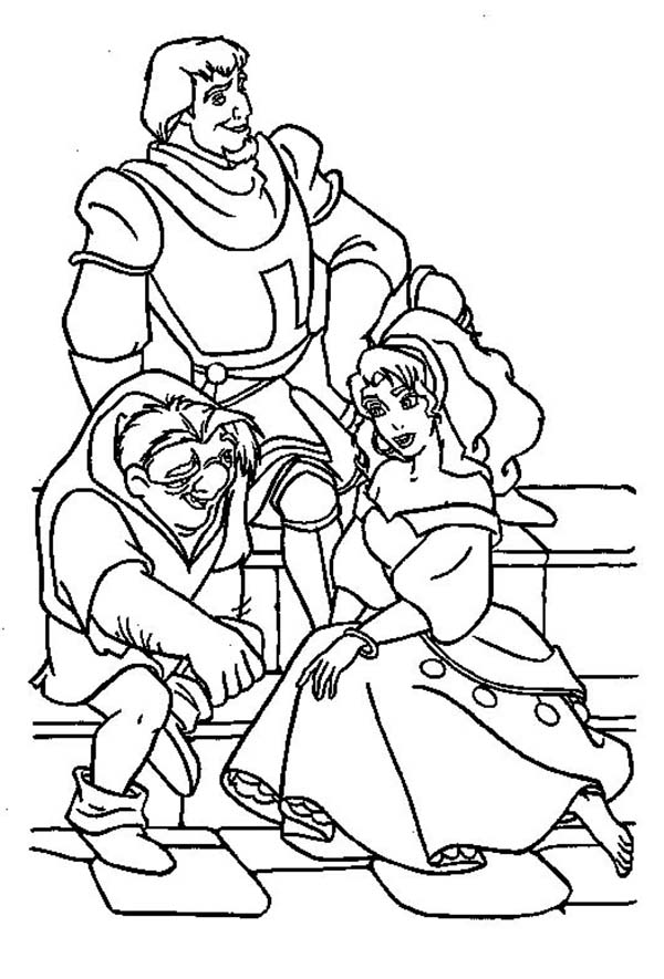 600x885 Quasimodo And Esmeralda And Phoebus Hang Out Together
