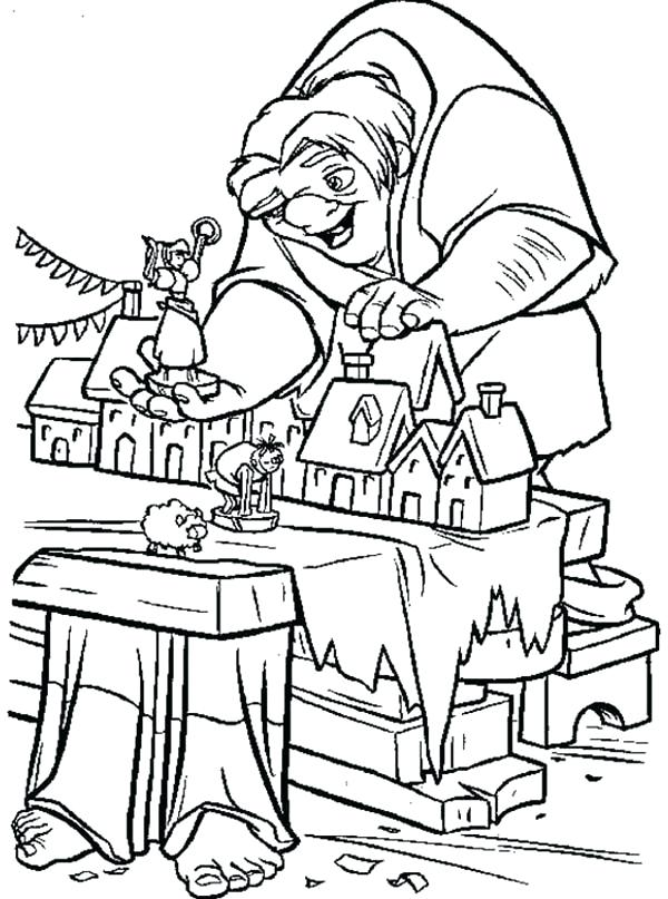 600x807 The Hunchback Of Notre Dame Coloring Pages Coloring Page