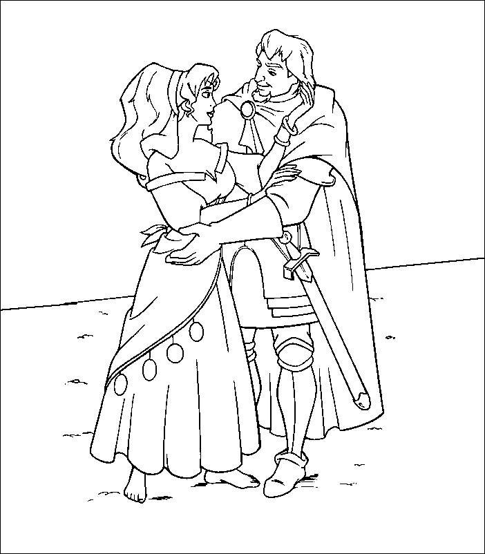 702x802 Coloring Pages The Hunchback Of Notre Dame