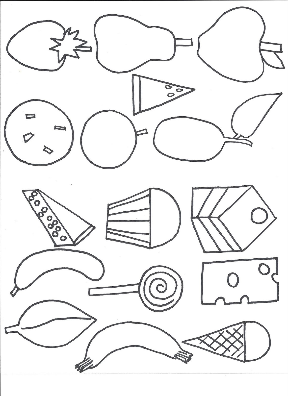 The Hungry Caterpillar Coloring Pages At Getdrawings Com Free For