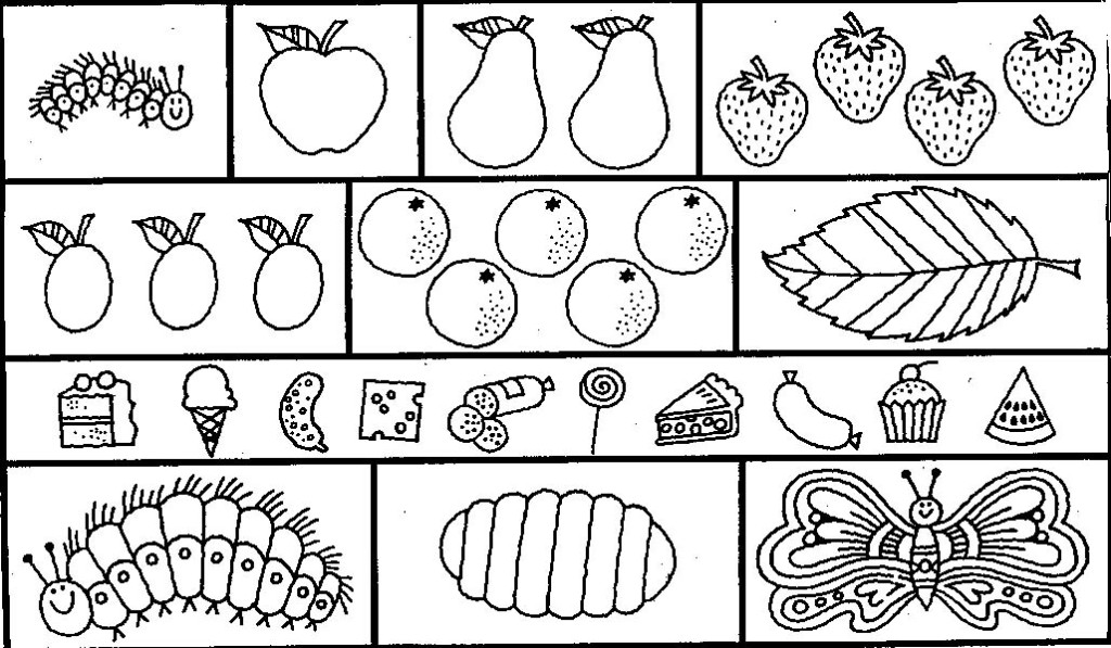 The Hungry Caterpillar Coloring Pages at GetDrawings.com ...