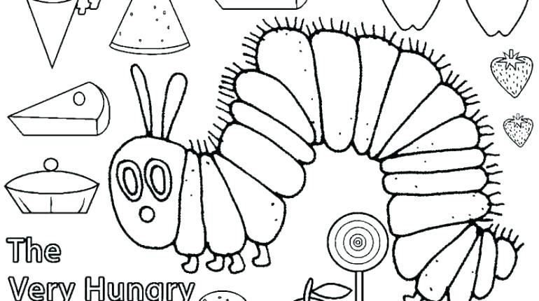 770x430 Caterpillar Coloring Pages The Very Hungry Caterpillar Coloring