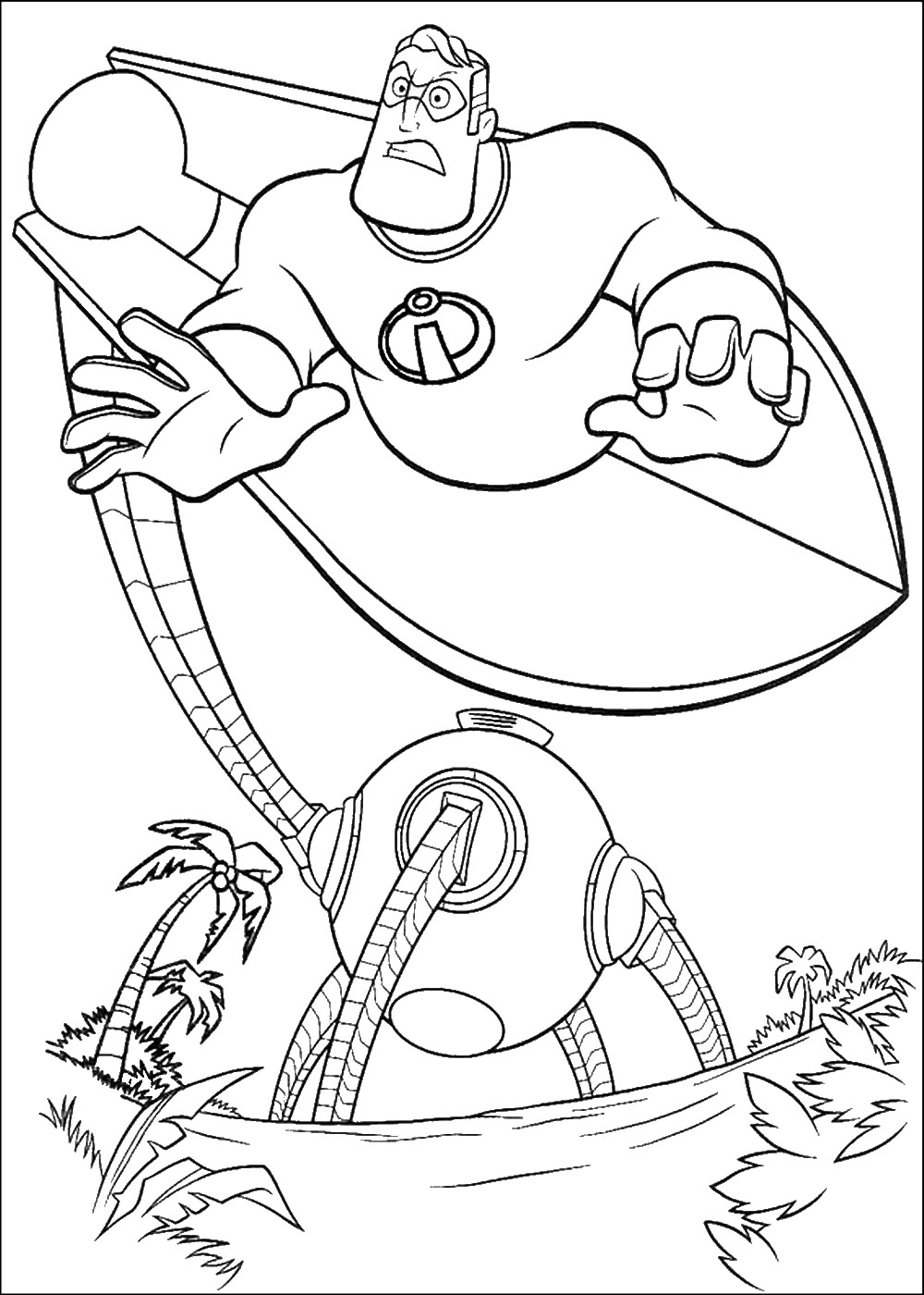 The Incredibles Coloring Pages At Getdrawings Com Free For