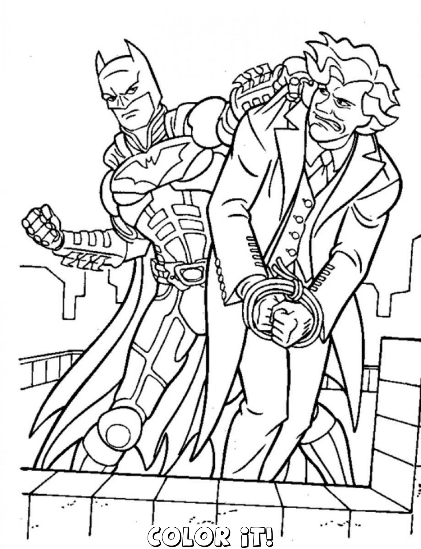 1378x1800 The Joker Coloring Pages Free Coloring For Kids