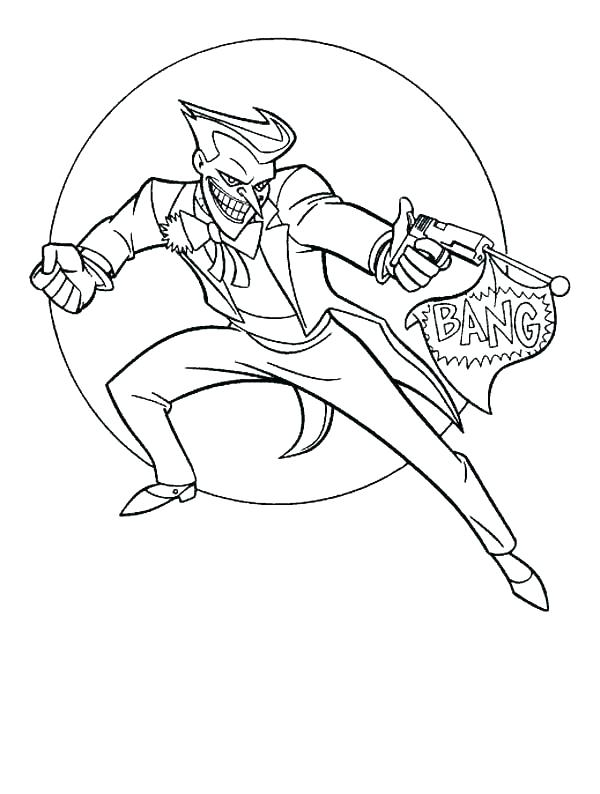 600x794 The Joker Coloring Pages Joker Coloring Pages The Joker Coloring