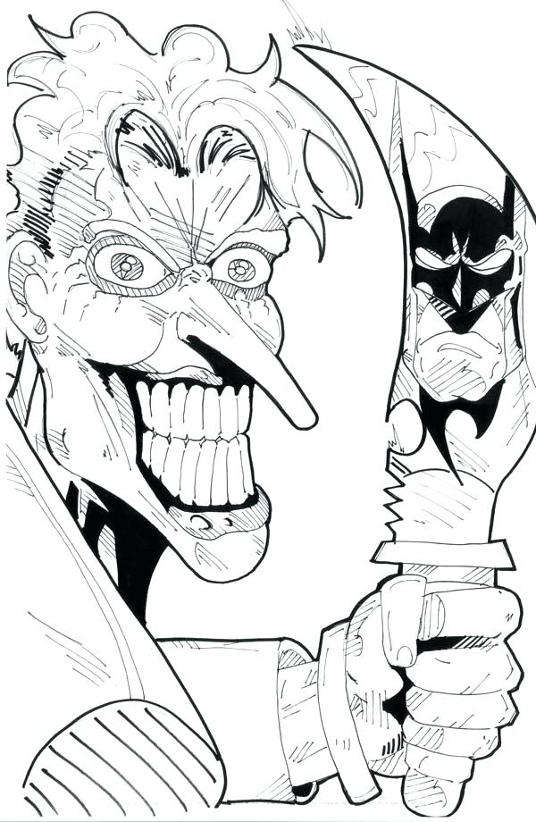 600x920 The Joker Coloring Pages Scary Joker With Knife Coloring Page