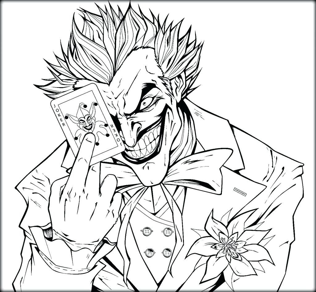 1024x948 Joker Coloring Pages In Tiny Draw Photo Mask Ribsvigyapan Batman