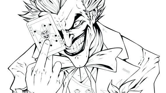 570x320 The Joker Coloring Pages